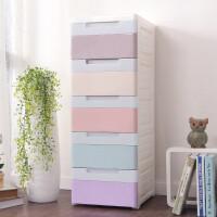 储物柜 加厚窄面双色收纳柜抽屉式整理储物柜厨房浴室整理置物柜窄面衣柜