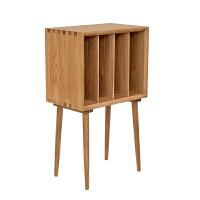 北欧风格杂志柜白橡木全实木沙发边柜黑胡桃木储物柜简约家具书柜 0.6米以下宽