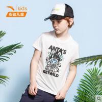 【券后价59】安踏儿童男童短袖针织衫2020夏季新款潮流男童服短袖衫352028135