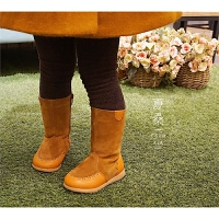 定制款长筒靴 小宝也可以马丁靴 拉链一拉到底 一脚蹬的皮靴