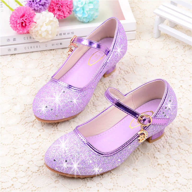 女童皮鞋高跟公主鞋春秋时尚女童鞋小女孩水晶鞋儿童单鞋