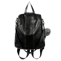 双肩包女韩版新款潮百搭皮包包防盗牛皮软皮女士背包旅行包
