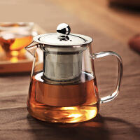 功夫茶具玻璃茶壶加厚耐热泡茶壶不锈钢304 过滤花茶壶红茶器水壶s3y