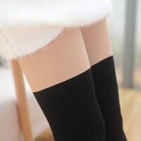 拼接两色打底裤袜丝袜过膝袜连袜裤夏季学生女打底袜 肉色+黑色 均码