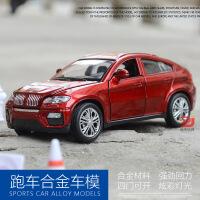 宝马X6回力开门声光合金汽车模型儿童玩具车