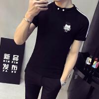 帅小码男装小个子S码XS码紧身立领短袖POLO衫男半袖T恤