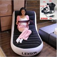 日韩懒人充气沙发床植绒L形单人户外居家便携带沙发躺椅新品