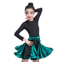 少儿女童拉丁舞裙儿童女孩舞蹈服装新款演出比赛考级规定练功服秋