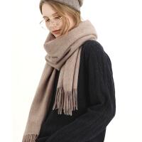 时尚新款围脖秋冬季男女士韩版加厚纯色山羊绒围巾保暖