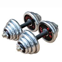 男士 电镀哑铃男士健身哑铃15k20kg30kg室内健身器材