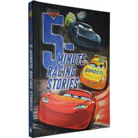 赛车总动员 英文原版 5-Minute Racing Stories 皮克斯 汽车总动员 五分钟睡前故事