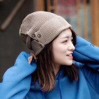 帽子女韩版百搭潮 时尚英伦潮流毛线帽韩国针织帽