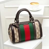 28新款欧美时尚波士顿枕头包帆布女包大包大容量单肩斜挎手提包