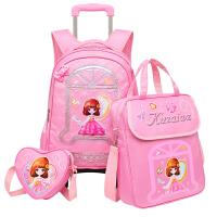 新款小学生拉杆书包女2-3-5年级三轮 儿童双肩包6-12周岁轻便书包