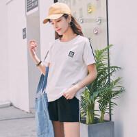 户外运动跑步休闲运动服套装女韩版时尚宽松短袖短裤两件套潮