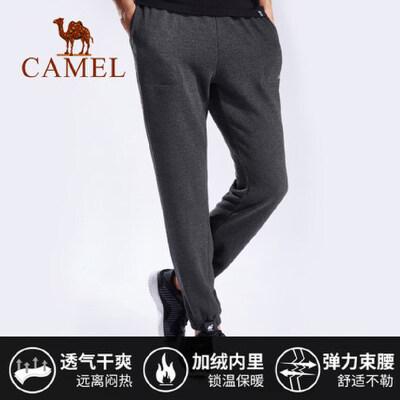 camel骆驼男装裤子男韩版潮流休闲裤宽松大码长裤健身跑步运动裤小脚裤