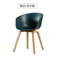 北欧餐椅家用书桌靠背创意实木现代简约餐厅咖啡办公化妆椅子