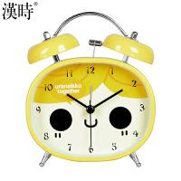 汉时(Hense)可爱卡通闹钟学生床头钟桌钟打铃创意儿童小台钟静音夜光懒人闹表HA72