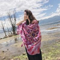 户外波西米亚民族风围巾女海滩纱巾旅游度假沙滩巾防晒丝巾披肩