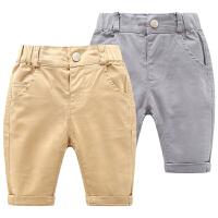 男童婴儿裤子新款男宝宝打底裤3-7-9个月韩版儿童装春夏装
