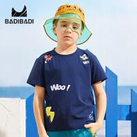【99选3】巴拉巴拉旗下巴帝巴帝童装2019春夏新款男童短袖T恤童趣印花两色儿童短袖上衣