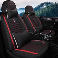 汽车坐垫四季通用全包围座套20新款亚麻座椅套夏季卡通全包座垫套