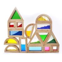 新款创意大号彩虹积木 木制早教礼品 婴幼儿教具 儿童益智玩具