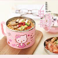 韩国卡通可爱儿童餐盒大饭缸保温快餐杯带盖学生不锈钢便当盒饭盒