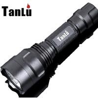 探露C8 T6强光手电筒 LED充电套装远射户外战术家用防水手电