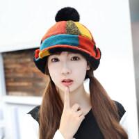 帽子女韩版潮时尚百搭护耳帽学生可爱飞行帽雷锋帽棉帽子