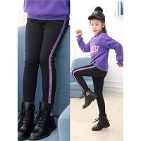 儿童韩版潮女童加绒打底裤冬季一体绒踩脚外穿中大童裤子
