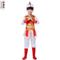 新款儿童舞蹈服 少数民族藏族蒙古裙袍六一演出服男女童