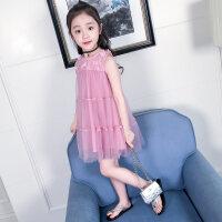 女童连衣裙夏2018新款12岁韩版裙子15中大童夏季时尚洋气公主裙