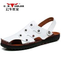 公牛世家 夏季新款户外沙滩鞋 男士凉鞋 888287