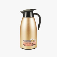 当当优品  双层不锈钢水壶 旋转式塞盖 防尘出水口 保温壶 咖啡壶 水具 2000ML