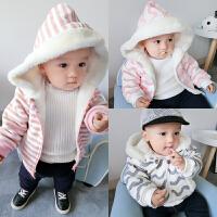 男童加绒加厚婴儿棉衣冬季秋冬款儿童宝宝女童童装小童冬装外套
