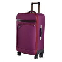 24寸拉杆箱男20寸商务旅行箱女行李箱28寸帆布箱包万向轮密码箱 富贵紫 万向轮