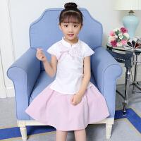 女童汉服夏装中国风唐装10岁大童潮复古