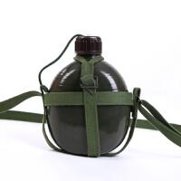 户外时尚休闲长途旅行水壶老式87铝制加厚大容量1.2L 军迷用品 绿色