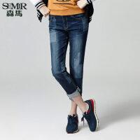 森马牛仔裤 秋季 女士韩版低腰水洗牛仔裤铅笔裤长裤子潮