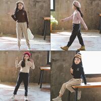 女童套装秋冬韩版时髦潮衣中大童儿洋气打底衫纯棉两件套