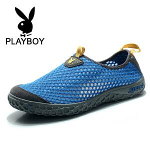 花花公子 夏季新款网布鞋休闲鞋单鞋套脚鞋 德 CX36228