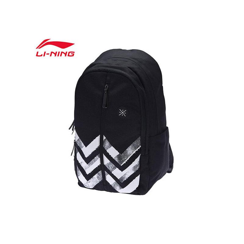李宁双肩包男包女包2019新款韦德系列背包书包学生运动包ABSP136 专柜新款