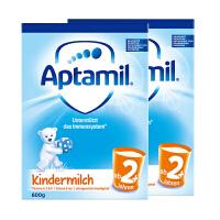 【2+普通】保税区发货 德国Aptamil爱他美 德爱普通婴幼儿奶粉 2+段(2岁以上) 600g*2罐 海外购