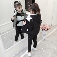 韩版9洋气中大童10冬季三件套潮衣11岁女童冬装套装童装