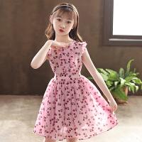 女童连衣裙夏装童装粉色儿童裙子夏季薄款碎花公主裙