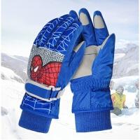 滑雪手套 儿童手套冬滑雪保暖手套加厚男童玩雪手套加绒防水骑车学生女手套