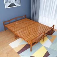 折叠床单人床1.2米家用简易经济型实木硬板双人午休床出租房竹床