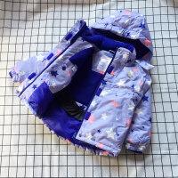 自留 女童冲锋衣加绒加厚防风衣外套2017冬装新款儿童棉衣 亲子款