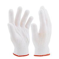 白色薄款尼龙手套不易掉毛灵活透气贴手舒适净化车间女工作业防护